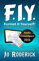 Format It Yourself is a Step-by-Step guide, specifically written and illustrated to help authors format their books. Whether you are publishing through CreateSpace, Kindle, or any other outlet, one of the greatest challenges is preparing and typesetting the book. This formatting manual is an in-depth typesetting Master-Class with over 60 Screenshots for guidance. | This logical, sequentially presented handbook teaches readers exactly how to typeset according to traditional convention. Speed up your normal workflow, and reduce frustration. The information will lead you to a quicker and smarter way of writing. Would you like to spend less time wrestling with formatting gremlins, and more on penning your next novel? | This book doesn't promise the impossible. It delivers on what can be done by the reader. You cannot typeset your book in sixty minutes, or in an afternoon - if you want to do it properly. Learn all the tips and secrets straight from a professional. Let me walk you through the right way to Format It Yourself! | Let's face it; if you knew how to code a proper e-Book, you wouldn't need a formatting 'bible'. Discover how to implement simple tweaks in your electronic book's HTML code. Familiarise yourself with the most common and frustrating formatting errors, and how best to avoid them. I will warn you about which elements will fail to convert properly. I find these same issues with many of my clients' manuscripts. | While Format It Yourself focuses on Microsoft Word, the theory and solutions can be applied to any word processing software. Numerous links to free software and useful websites will assist you in finalising your book. | Here are just a few of the topics covered: The word processing document; Custom Shortcuts; Smart Styles and Rogue Orphan Styles; Widows, Orphans, Columns, and Rivers; Page Breaks; Hyphenation; Table of Content; The NCX TOC; Images and Inserts; Hyperlinks; Indexes and Footnotes; Macros; Automated Chapter Numbering; Common Punctuation Errors; Traditional Front and Back Matter; The Conversion Process; The ePub and Mobi/Kindle Formats; Page Setup; Copyright; Headers and Footers; Page Numbering; Typesetting; How to Proof your final PDF print format.