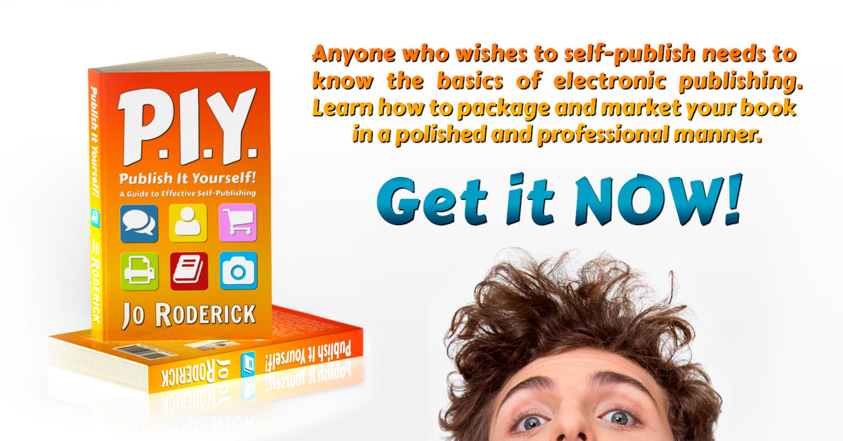 Non fiction piy press kit book 1 jo roderick author publish it yourself a guide to effective self publishing press kit solutioingenieria Choice Image